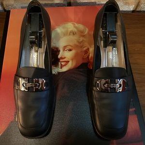 Black Salvatore Ferragamo Loafer Heels
